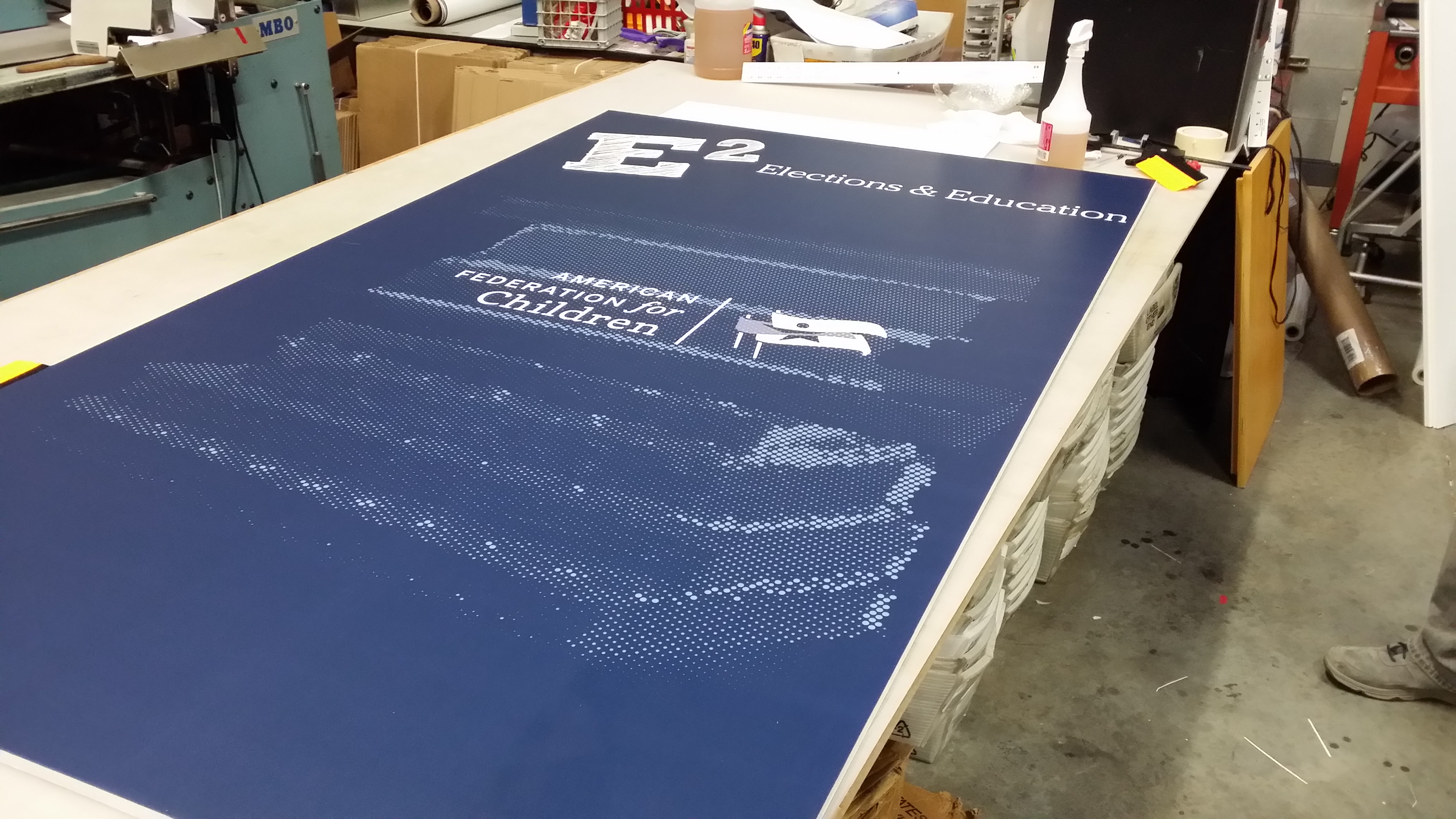 Laminated Vinyl on Ultra Board 3mm 4x10